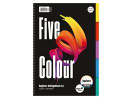 Ursus Style Collegeblock Five Colour A4 80 kariert