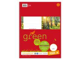 Ursus Green Collegeblock A4 80 Blatt blanko