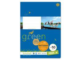 Ursus Green FX 10 Heft A4 20 Blatt blanko