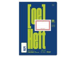Ursus Green Heft FX15 A4 20 Blatt 9mm liniert