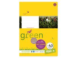 Ursus Green Heft FX43 A4 40 Blatt 9mm liniert