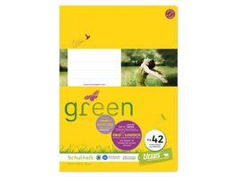 Ursus Green Heft FX42 A4 40 Blatt 9mm liniert mit Rahmen