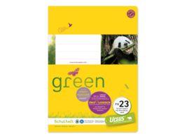 Ursus Green Heft FX23 A5 40 Blatt 10mm liniert