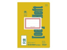 Ursus Green Heft FX22 A5 40 Blatt 10mm liniert mit Rahmen