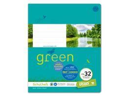 Ursus Green Heft FX32 Quart 20 Blatt 10mm liniert mit Rahmen