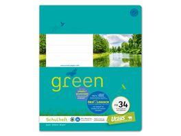 Ursus Green Heft FX34 Quart 20 Blatt 5mm kariert mit Rahmen