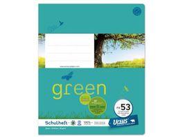 Ursus Green Heft FX53 Quart 40 Blatt liniert