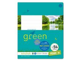 Ursus Green Heft FX54 Quart 40 Blatt kariert mit Rahmen