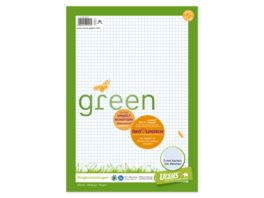 Ursus Green Ringbucheinlage A4 100 Blatt 5mm kariert mit Rahmen