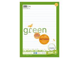 Ursus Green Ringbucheinlage A4 100 Blatt 9mm liniert mit Rahmen