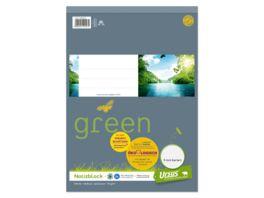 Ursus Green Notizblock A4 48 Blatt 9mm liniert