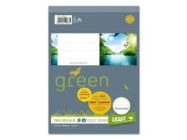 Ursus Green Notizblock A5 48 Blatt 10mm liniert