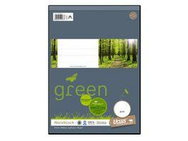 Ursus Green Notizblock A4 48 Blatt blanko