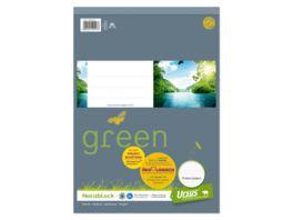 Ursus Green Notizblock A4 48 Blatt 5mm kariert