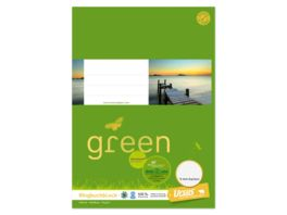 Ursus Green Ringbuchblock A4 100 Blatt 5mm kariert