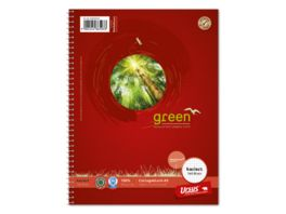 Ursus Green Collegeblock A5 160 Blatt 5mm kariert