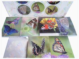 Postler Notizblock Schmetterlinge 6 fach sortiert 40 Seiten 6 x 8 3 cm