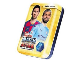Topps UEFA Champions League Match Attax 2019 2020 Trading Cards Mini Tin 4 untersch Motive