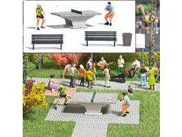 BUSCH 7843 H0 Action Set Tischtennis