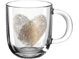 LEONARDO Tasse Emozione Fingerabdruckherz 400ml