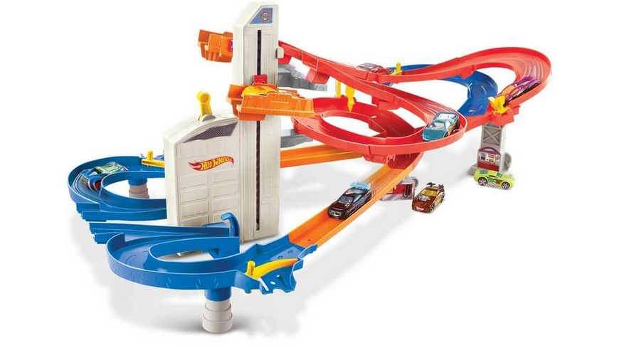 Mattel Hot Wheels Auto Lift Expressway Track Set