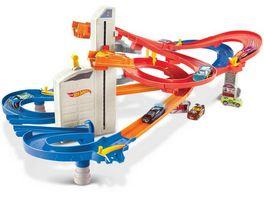 Hot Wheels Auto Lift Expressway motorisiertes Spielset inkl 5 Spielautos Autorennbahn