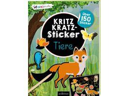 Kritzkratz Sticker Tiere Die Kritzkratz Sticker Innovation Sticker zum Freikratzeln und Einkleben in fantasievolle Szenen