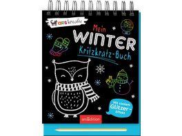 Mein Winter Kritzkratz Buch Winterlicher Kritzkratz Block mit Glitzer und Farb Kratzseiten