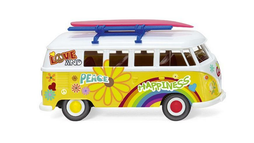 WIKING 0797 25 VW T1 Bus Flower Power 1 87
