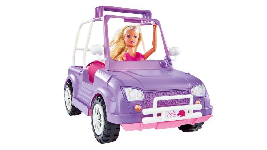 Simba Steffi Love Jeep mit Pferdeanhaenger