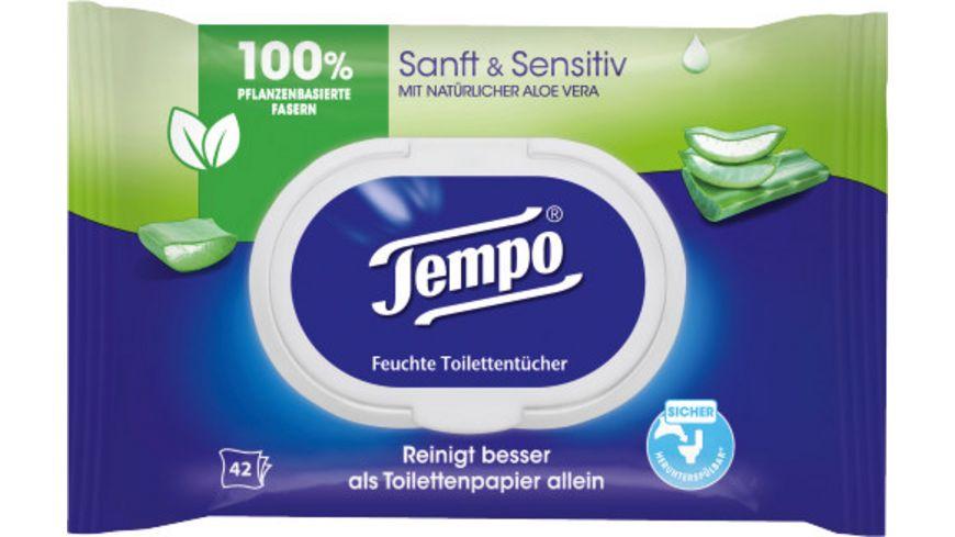 Tempo Feuchte Toilettentuecher Sanft Senstiv