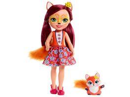 Mattel Enchantimals Puppe Fox 31 cm mit Freund
