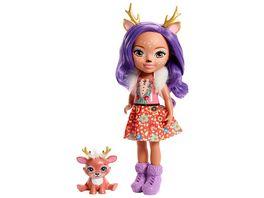 Mattel Enchantimals FRH54 Puppe Deer 31 cm mit Freund