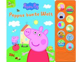 Peppa Pig Peppas bunte Welt Interaktives Pappbilderbuch mit 10 lustigen Geraeuschen
