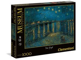 Clementoni Van Gogh Sternennacht 1000 Teile Puzzel Museum Collection