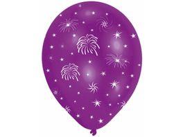 Amscan 6 Ballons Feuerwerk