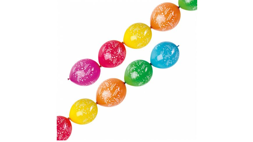 Amscan 6 Girlandenballons Happy Birthday Latex Ballons
