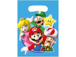 Amscan 8 Partytueten Super Mario Bros Plastik 23 4 x 16 2 cm