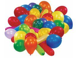 Amscan 25 Latex Ballons Formen und Farben einfarbiges Set sortiert