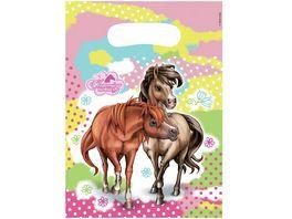 Amscan 6 Partytueten Plastik Charming Horses 23 4 x 16 2 cm