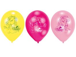 Amscan 6 Latex Ballons Charming Horses 22 8 cm