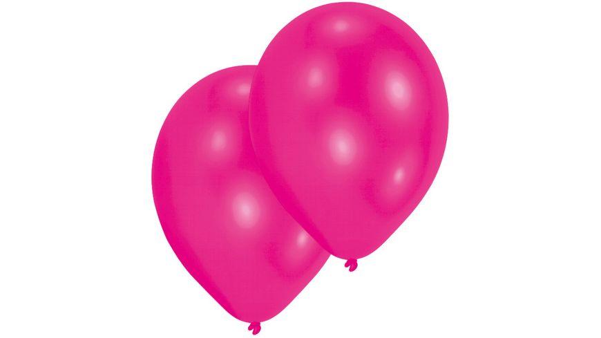 Amscan 10 Latex Ballons hot pink 27 5cm