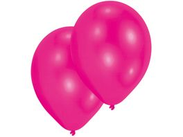 Amscan 10 Latex Ballons hot pink 27 5cm