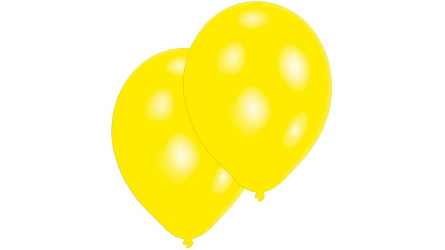 Amscan - 10 Latex Ballons gelb 27,5cm