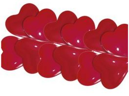 Amscan 10 Herzballons klein rot