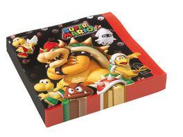 Amscan 20 Servietten Super Mario Bros 33x33cm