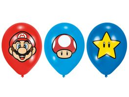 Amscan 6 Latex Ballons Super Mario Bros 27 5 cm