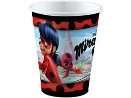 Amscan 8 Party Becher 250ml Miraculous
