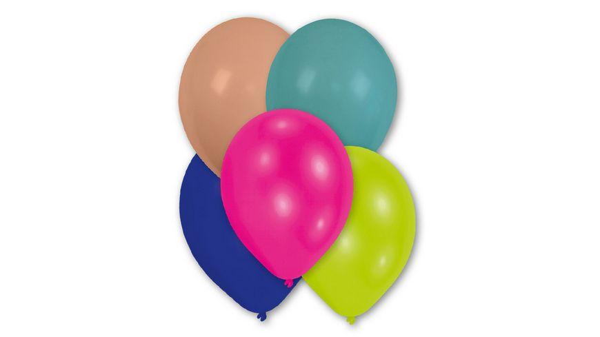 Amscan 25 Latex Ballons rund 27 5cm farblich sortiert