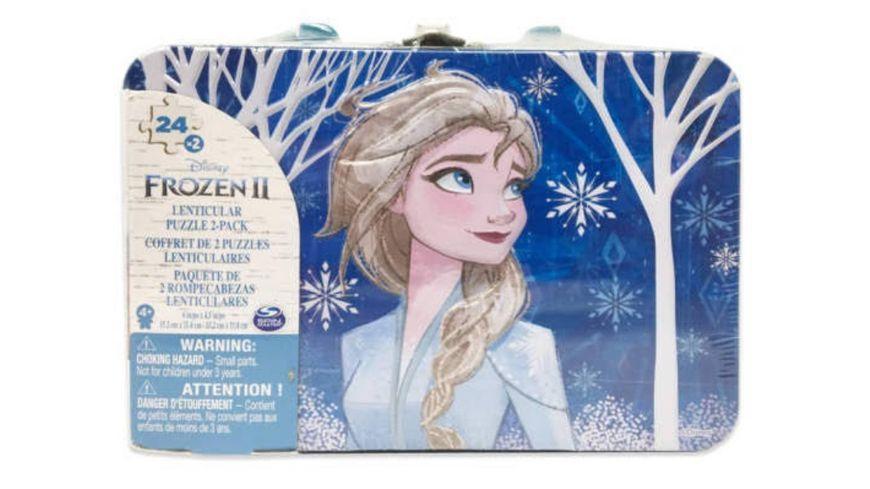 Spin Master Frozen 2 Puzzle Tin mit Tragegriff 2x24 Teile